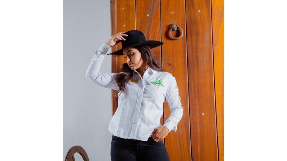 Camisa Radade Bordada Green Team Branco