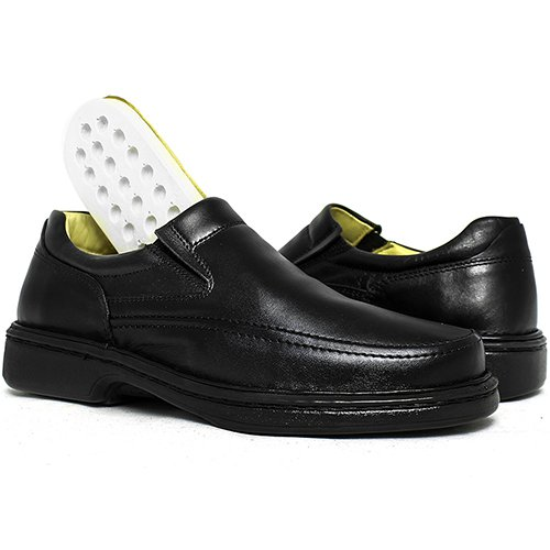 6782ff72d Sapato Masculino Anti Stress 2001 Preto | DED CALÇADOS