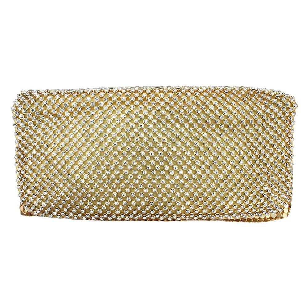 Bolsa De Strass Dourada : Bolsa elegance strass dourada ch?rie bijoux