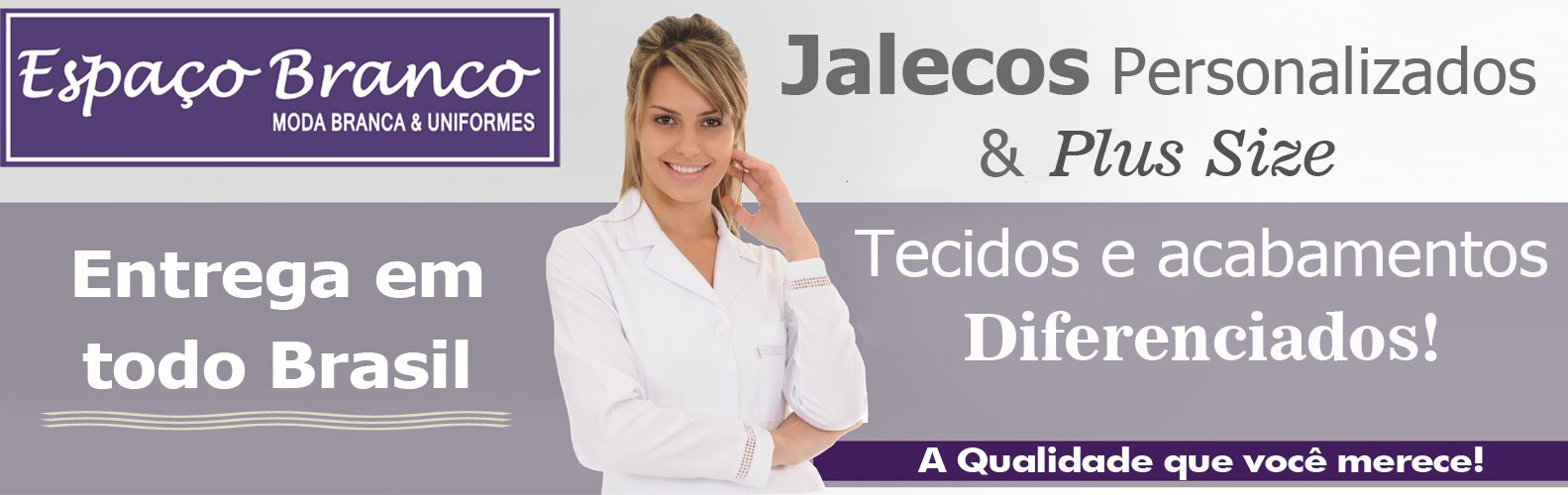 Jalecos Plus Sizes