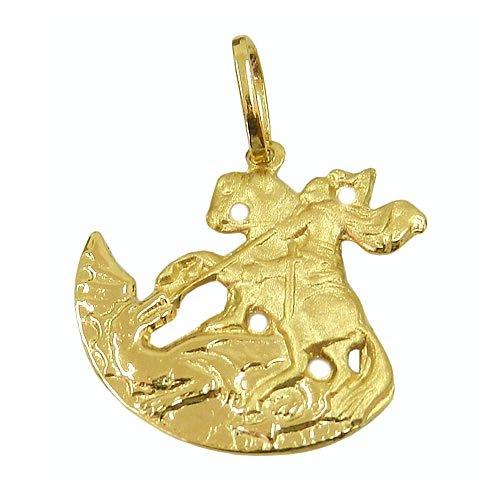 Pingente Masculino São Jorge Guerreiro em Ouro   RDJ JÓIAS 1ad3643f2a