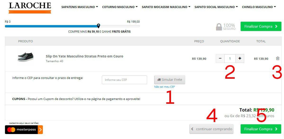 2b0a09929368 Se tudo estiver de acordo com seu desejo basta clicar em Finalizar Compra.