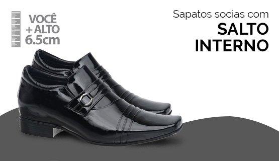 Sapatos Sociais Salto Interno